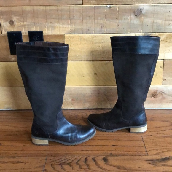 Timberland espresso brown riding fall boots sz 9.5